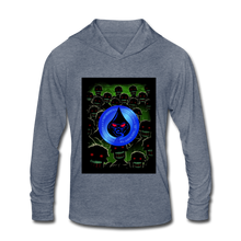 Load image into Gallery viewer, Cute Oil NOT Zombies - Unisex Tri-Blend Hoodie Shirt - heather blue