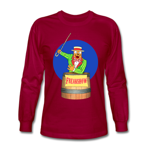 Twitch Carnival Barker - Men's Long Sleeve T-Shirt - dark red