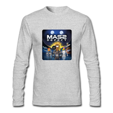 Load image into Gallery viewer, Mass Defect - Men's Long Sleeve T-Shirt by Next Level - heather gray
