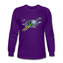Load image into Gallery viewer, Alien Pee - Men's Long Sleeve T-Shirt - purple