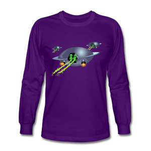 Alien Pee - Men's Long Sleeve T-Shirt - purple