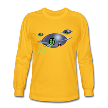 Load image into Gallery viewer, Alien Pee - Men's Long Sleeve T-Shirt - gold