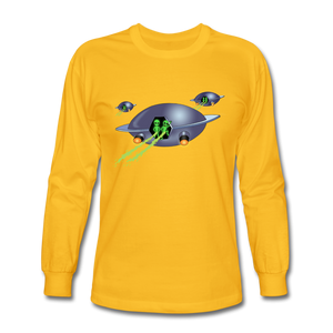Alien Pee - Men's Long Sleeve T-Shirt - gold
