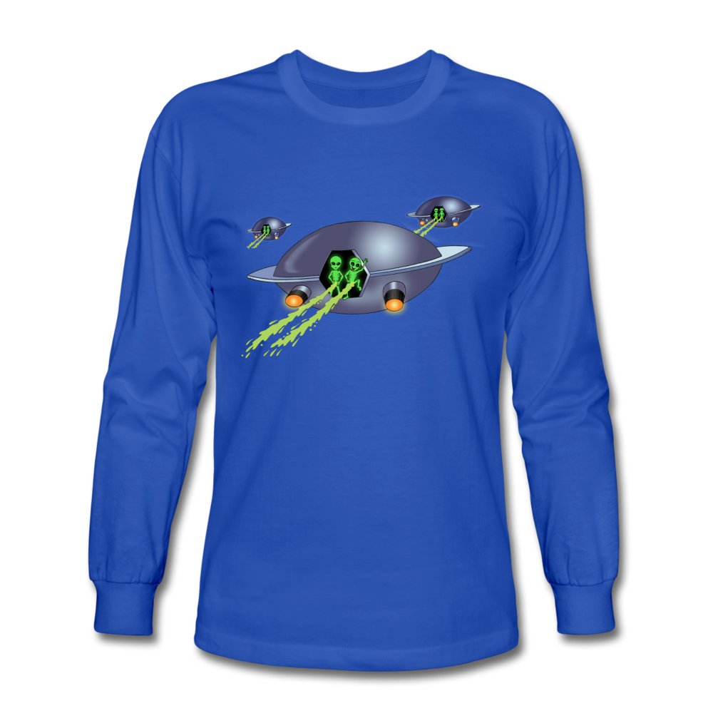 Alien Pee - Men's Long Sleeve T-Shirt - royal blue