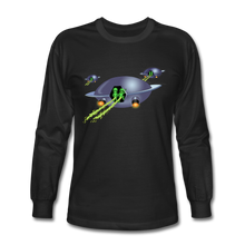 Load image into Gallery viewer, Alien Pee - Men's Long Sleeve T-Shirt - black