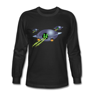 Alien Pee - Men's Long Sleeve T-Shirt - black