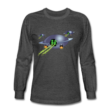 Load image into Gallery viewer, Alien Pee - Men's Long Sleeve T-Shirt - heather black