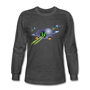 Alien Pee - Men's Long Sleeve T-Shirt - heather black