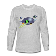 Load image into Gallery viewer, Alien Pee - Men's Long Sleeve T-Shirt - heather gray
