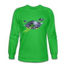 Load image into Gallery viewer, Alien Pee - Men's Long Sleeve T-Shirt - bright green