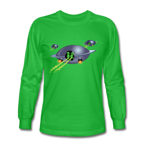 Alien Pee - Men's Long Sleeve T-Shirt - bright green
