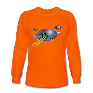 Alien Pee - Men's Long Sleeve T-Shirt - orange