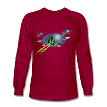 Load image into Gallery viewer, Alien Pee - Men's Long Sleeve T-Shirt - dark red