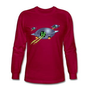 Alien Pee - Men's Long Sleeve T-Shirt - dark red