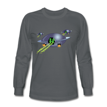 Load image into Gallery viewer, Alien Pee - Men's Long Sleeve T-Shirt - charcoal