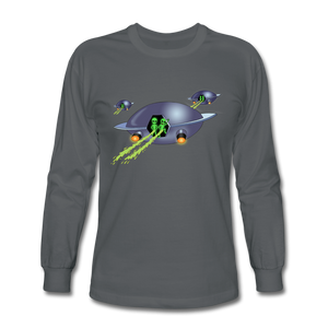 Alien Pee - Men's Long Sleeve T-Shirt - charcoal