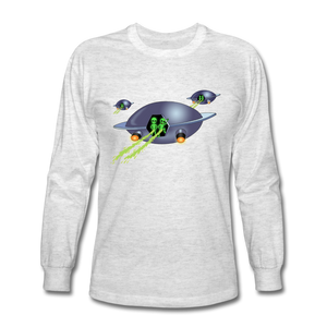 Alien Pee - Men's Long Sleeve T-Shirt - light heather gray