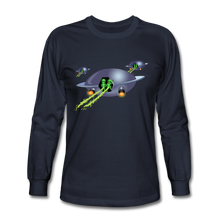 Load image into Gallery viewer, Alien Pee - Men's Long Sleeve T-Shirt - navy
