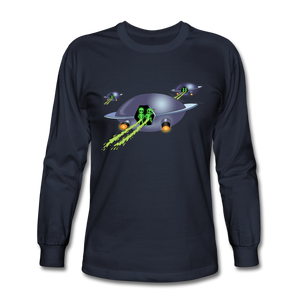 Alien Pee - Men's Long Sleeve T-Shirt - navy