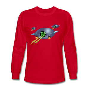 Alien Pee - Men's Long Sleeve T-Shirt - red