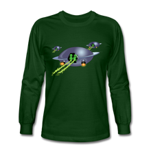 Load image into Gallery viewer, Alien Pee - Men's Long Sleeve T-Shirt - forest green