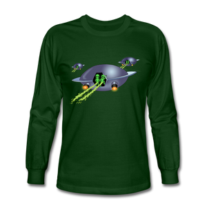 Alien Pee - Men's Long Sleeve T-Shirt - forest green