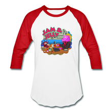 Load image into Gallery viewer, It's Not About Larry Jam & Jelly - Baseball T-Shirt - white/red
