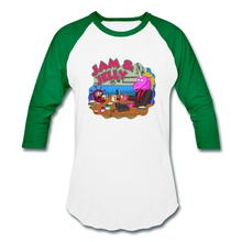 Load image into Gallery viewer, It's Not About Larry Jam & Jelly - Baseball T-Shirt - white/kelly green