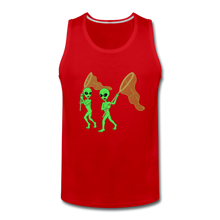 Load image into Gallery viewer, Space Alien Hunting - Men's Premium Tank - red