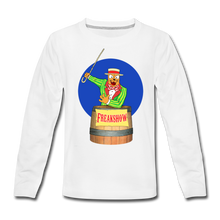 Load image into Gallery viewer, Twitch Carnival Barker - Kids' Premium Long Sleeve T-Shirt - white