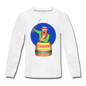 Twitch Carnival Barker - Kids' Premium Long Sleeve T-Shirt - white