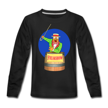 Load image into Gallery viewer, Twitch Carnival Barker - Kids' Premium Long Sleeve T-Shirt - black