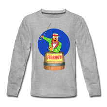 Load image into Gallery viewer, Twitch Carnival Barker - Kids' Premium Long Sleeve T-Shirt - heather gray