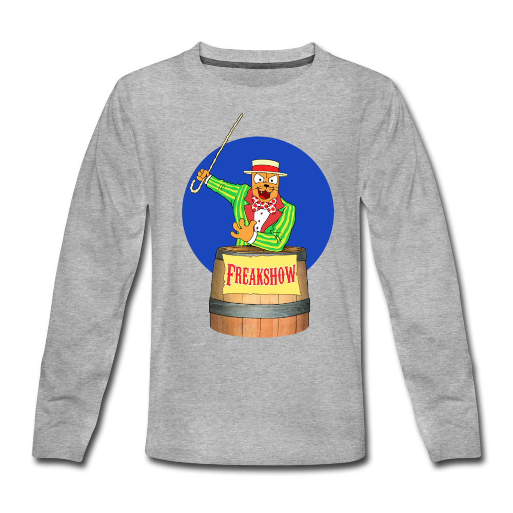 Twitch Carnival Barker - Kids' Premium Long Sleeve T-Shirt - heather gray