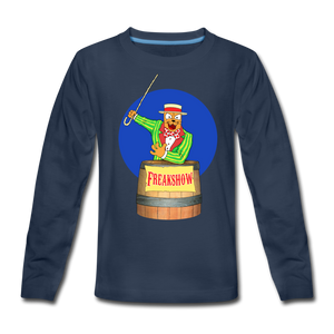Twitch Carnival Barker - Kids' Premium Long Sleeve T-Shirt - navy