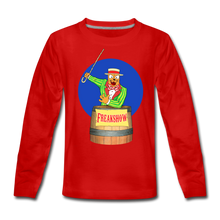 Load image into Gallery viewer, Twitch Carnival Barker - Kids' Premium Long Sleeve T-Shirt - red