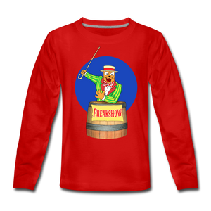 Twitch Carnival Barker - Kids' Premium Long Sleeve T-Shirt - red