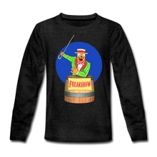 Load image into Gallery viewer, Twitch Carnival Barker - Kids' Premium Long Sleeve T-Shirt - charcoal gray