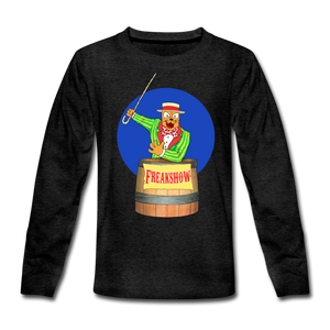 Twitch Carnival Barker - Kids' Premium Long Sleeve T-Shirt - charcoal gray