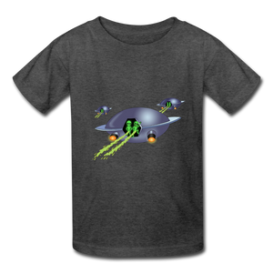 Space Alien Pee - Kids' T-Shirt - heather black