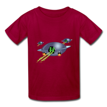 Load image into Gallery viewer, Space Alien Pee - Kids' T-Shirt - dark red