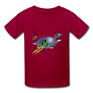 Space Alien Pee - Kids' T-Shirt - dark red
