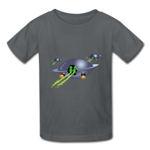 Load image into Gallery viewer, Space Alien Pee - Kids' T-Shirt - charcoal