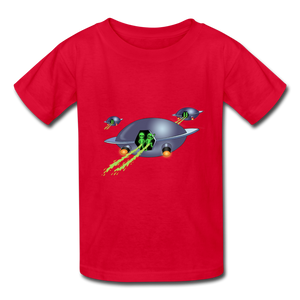 Space Alien Pee - Kids' T-Shirt - red