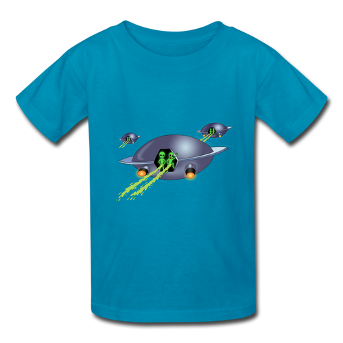Space Alien Pee - Kids' T-Shirt - turquoise