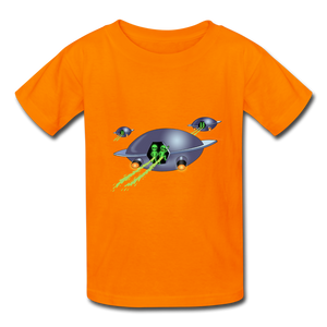 Space Alien Pee - Kids' T-Shirt - orange