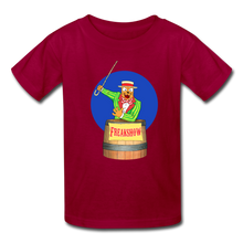 Load image into Gallery viewer, Twitch Carnival Barker - Kids' T-Shirt - dark red