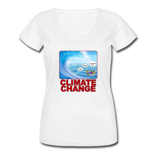 Load image into Gallery viewer, Climate Change - Women's Scoop Neck T-Shirt - white