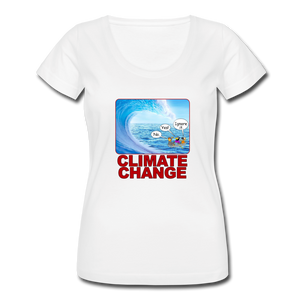 Climate Change - Women's Scoop Neck T-Shirt - white