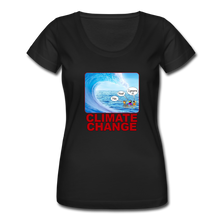 Load image into Gallery viewer, Climate Change - Women's Scoop Neck T-Shirt - black